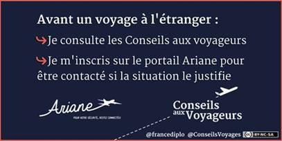Avant de partir en Thailande, pensez à vous inscrire sur Ariane