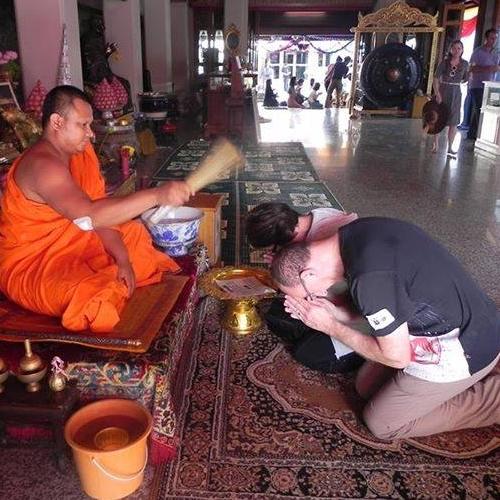 Bénédiction au Wat Pho
