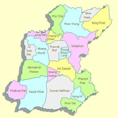 Les provinces de l'Isan