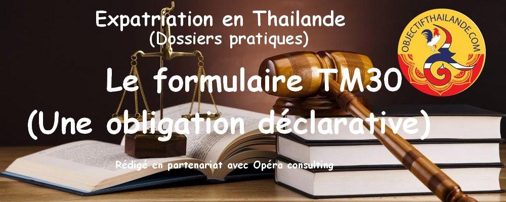 Le Formulaire TM30 en thailande