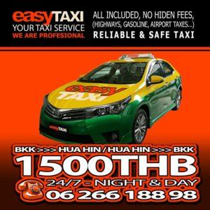 Taxi Hua Hin et Cha Am