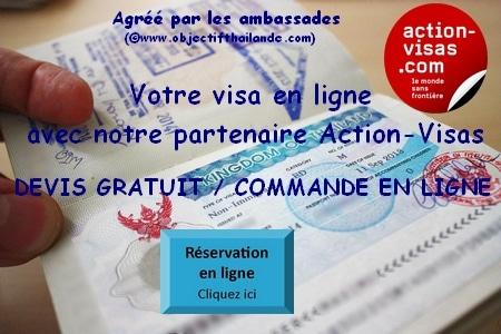faites votre demande de visa en ligne pour la Thailande