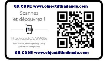 Notre QR Code objectif Thaïlande