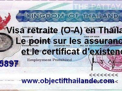 Visa retraite (O-A) en Thaïlande: le point sur les assurances et le certificat d'existence