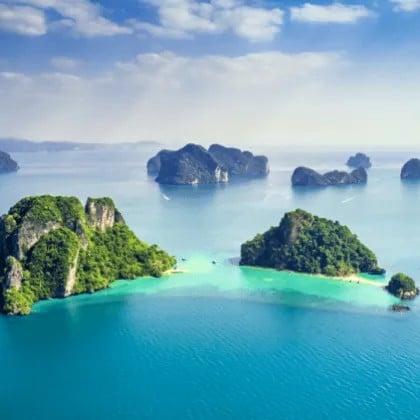 Îles Phi Phi d'une demi-journée en hors-bord