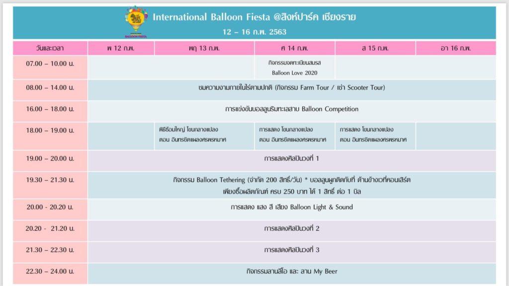 Chiang Rai International Balloon Fiesta 2020