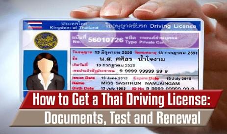 Conduire un véhicule en thailande