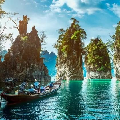Exploration d'un jour du lac Cheow Lan
