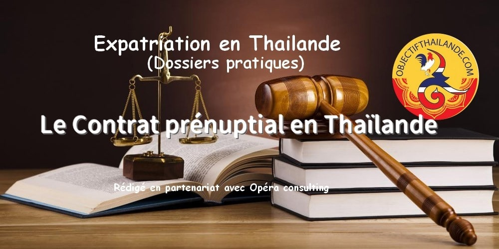 Le Contrat prénuptial en Thaïlande