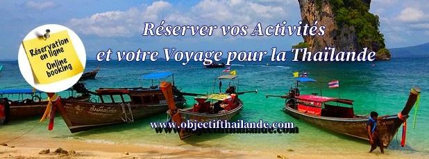 Réserver vos activités pour votre voyage pour la Thaïlande