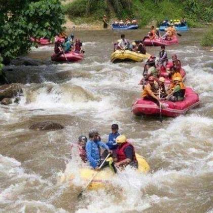 Rafting sur l'eau 5 km, Rafting en bambou, Flying Fox