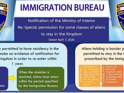 Mesures essentielles suite au covid-19 en Thaïlande (extensions visas, etc..