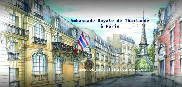 Réouverture le 11 Mai 2020 de l'Ambassade Royale de Thaïlande à Paris