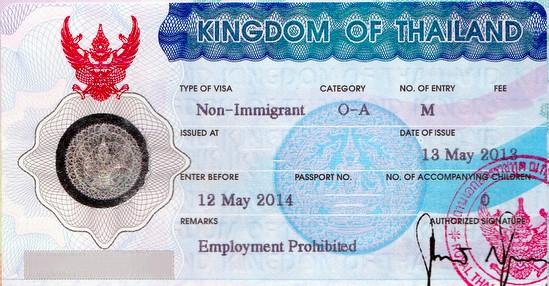 Visa non-immigrant O-A