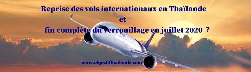 La reprise des vols internationaux en Thaïlande aura t'elle lieu en juillet 2020 ?