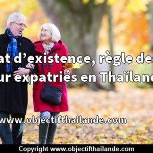 Certificat d'existence, règle des visas pour expatriés en Thaïlande